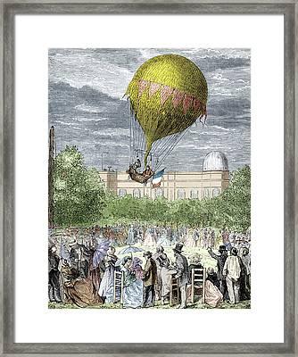 Barral & Bixio's Meteorological Flight Framed Print
