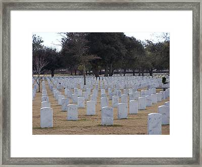 Framed Print featuring the photograph Barrancas National Cemetery by Michele Kaiser