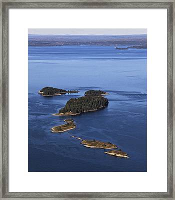 Barred Islands, Penobscot Bay Framed Print by Dave Cleaveland