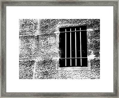 Barred Framed Print by Justin Woodhouse