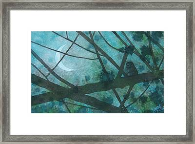 Barred Owl Moon Framed Print