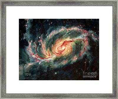 Barred Spiral Galaxy Framed Print by Arwen De Lyon