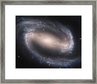 Barred Spiral Galaxy Framed Print by Nasa