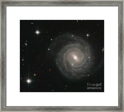 Barred Spiral Galaxy-ugc 12158 Framed Print by Science Source