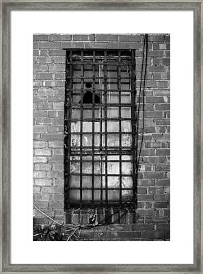 Barred Window Framed Print