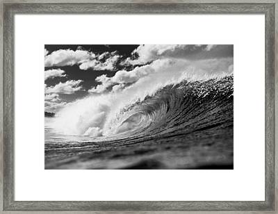 Barrel Clouds Framed Print