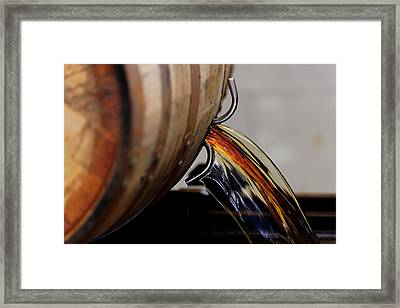 Barrel Pour Framed Print by Lone Dakota Photography