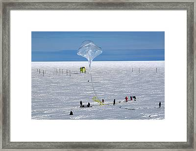 Barrel Research Balloon Release Framed Print