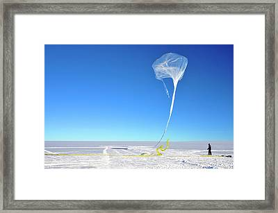 Barrel Research Balloon Release Framed Print by Nasa/gsfc/barrel/brett Anderson
