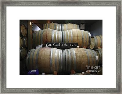 Barrels Await  Framed Print by Mark Treick
