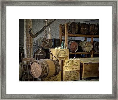 Barrels Framed Print by James Barber