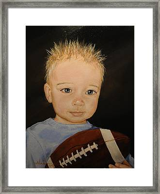 Framed Print featuring the painting Barrett by Alan Lakin