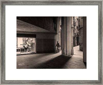 Barri Del Born, Barcelona Framed Print