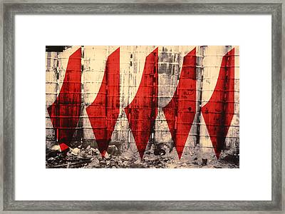 Barriers To Statehood, 1992 Screen Print On Canvas Framed Print by Laila Shawa