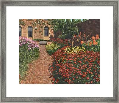 Barrington Court Gardens Somerset Framed Print by Richard Harpum
