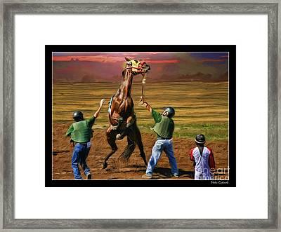 Barrington Harvey Looks On Horse Peekarandoconer Moment Framed Print