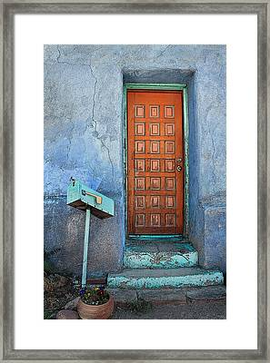 Barrio Door Framed Print