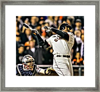 Barry Bonds Painting Framed Print by Florian Rodarte