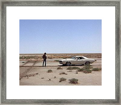 Barry Newman In Vanishing Point  Framed Print by Silver Screen