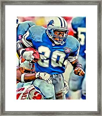 Barry Sanders Framed Print