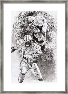 Barry Sanders Framed Print by Jonathan Tooley