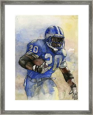 Barry Sanders Framed Print by Michael  Pattison