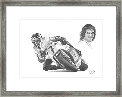 Barry Sheene Mbe Framed Print