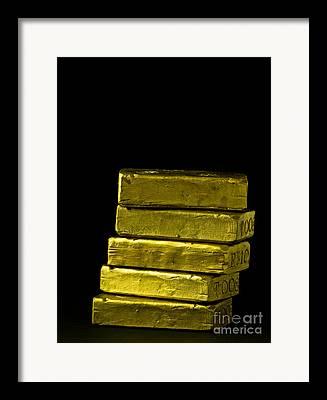 Gold Stock Framed Prints