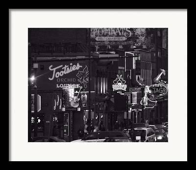 Downtown Nashville Framed Prints