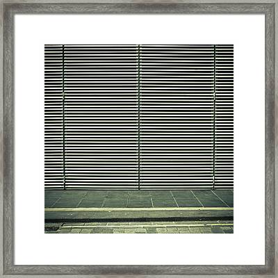Bars Framed Print by Tom Gowanlock