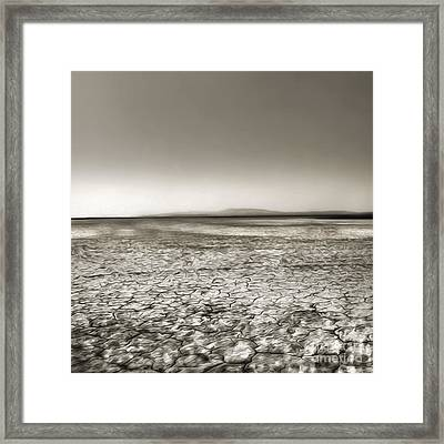 Barstow Dry Lake Bed  Framed Print by Gregory Dyer