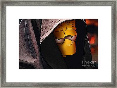 Bart Simpson Dark Side Framed Print