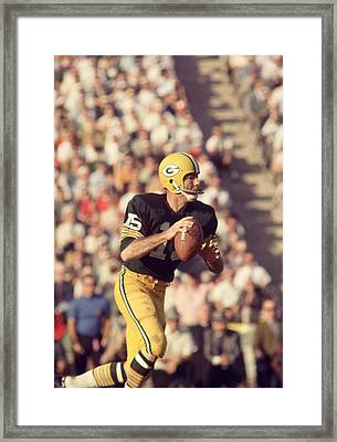 Bart Starr Buying Time Framed Print by Retro Images Archive