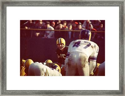 Bart Starr Calls Play Framed Print by Retro Images Archive