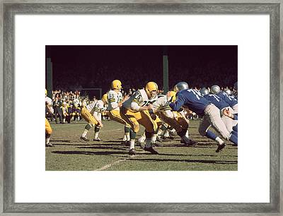 Bart Starr Drops Back Framed Print