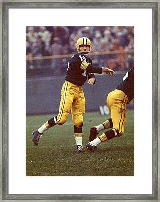 Bart Starr Follows Through Framed Print by Retro Images Archive