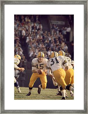 Bart Starr Hands Off To Jim Taylor Framed Print by Retro Images Archive
