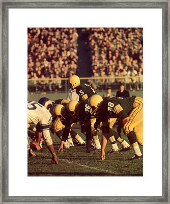 Bart Starr In Action Framed Print