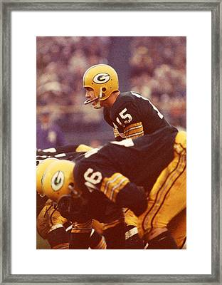 Bart Starr In Charge Framed Print by Retro Images Archive