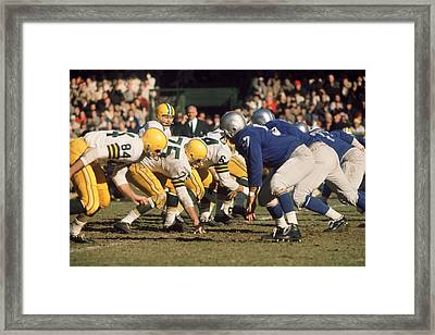 Bart Starr Lines Them Up Framed Print by Retro Images Archive