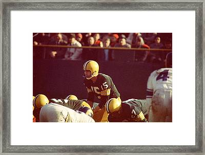 Bart Starr Looks Ahead Framed Print by Retro Images Archive