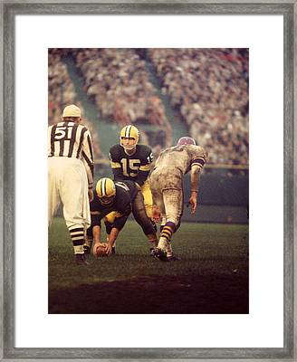 Bart Starr Looks Calm Framed Print