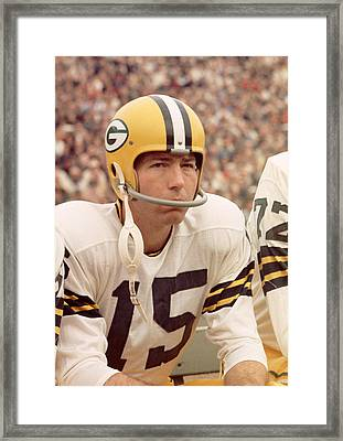 Bart Starr On Sidelines Framed Print by Retro Images Archive