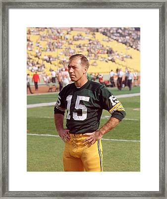 Bart Starr Pregame Framed Print by Retro Images Archive