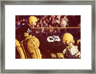 Bart Starr Ready For Snap Framed Print by Retro Images Archive