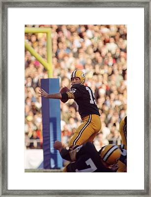 Bart Starr Throwing Framed Print by Retro Images Archive