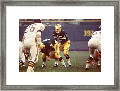 Bart Starr Vs. Vikings Framed Print by Retro Images Archive