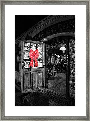 Bartender - One Last Christmas Drink Framed Print by Lee Dos Santos