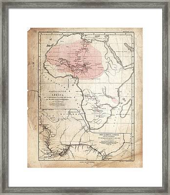 Barth And Livingstone's Africa Framed Print