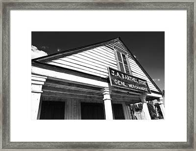 Barthel Store Framed Print by Scott Pellegrin